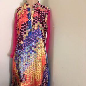 Silk top Indian /Pakistani NWT